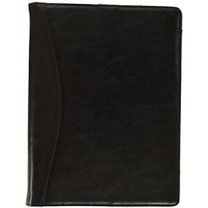 Icarryalls Leather Organizer Padfolio With 3 ring Binder Fits Letter size a4