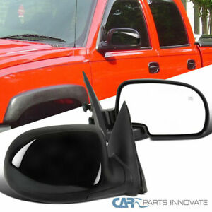 03 07 Chevy Silverado Gmc Sierra Power Heated Side Foldable Mirrors Left Right