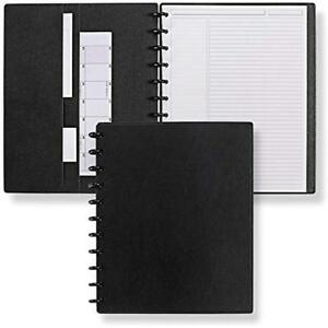 Circa Smooth Sliver Notebook With Pockets ads8795 Bk Ltr Nm