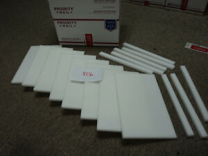 Cnc Mill Assorted Plastic White Delrin Acetal Block And Sheet Lot 16 Pcs 806