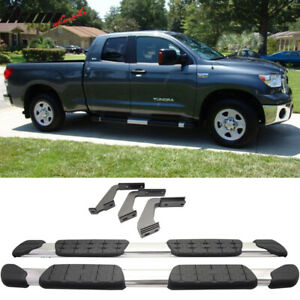 Fits 07 19 Toyota Tundra Double Cab 5 In Aluminum Side Step Bar Running Board
