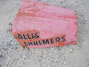 Allis Chalmers G Tractor Original Ac Rear Engine Cover Panel Hood Alternator Cut