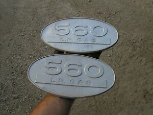 Farmall 560 Lp L p Gas Tractor Original Ih Front Side Oval Emblems Real Nice