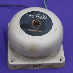 School Or Fire Alarm Bell Electric Faraday 120vac 79db Tested As Working 4