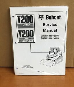 Bobcat T200 Track Loader Service Manual Shop Repair Book Part 6901397