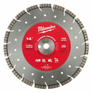 Milwaukee 49 93 7140 14 In Diamond Universal Segmented turbo Saw Blade