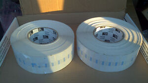 2 Rolls Of 10020 Genuine Zebra Labels 2 3 8 X 1 2 Jewelry Tag 3 Core 95031p