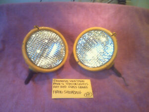 Tractor Lights Rat Rod Genuine Vintage Pair 2 Lights Glass Lens Free Shipping