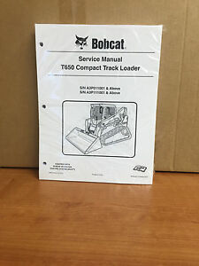 Bobcat T650 Track Loader Service Manual Shop Repair Book Part Number 6987172