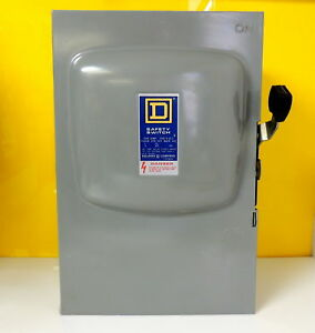 Square D D 324 General Duty Disconnect Safety Switch 240v 200a New