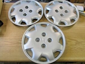 Lot Of 3 1998 To 2002 Honda Accord 15 Inch Bolt On Hubcaps Wheel Covers