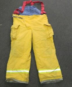 Fyrepel Turnout Gear Firefighter Bunker Pants W Suspenders Size X large 2