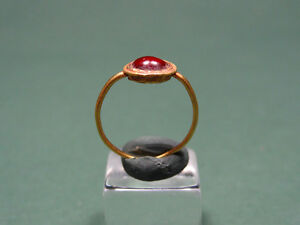 Ancient Gold Garnet Child Ring Roman 100 300 Ad