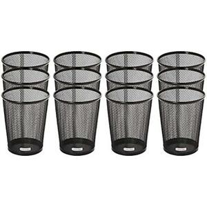 Mesh Collection Jumbo Pencil Cup Black 12 Count