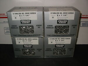 Stainless Steel Deck Screws Square Drive Wood 8 X 1 1 4 Lot Of 4 5 Lb Boxes
