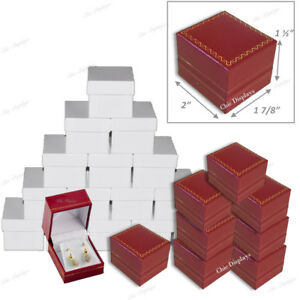 Jewelry Gift Boxes For Earrings Wholesale Jewelry Boxes Red Earring Boxes 48 pc