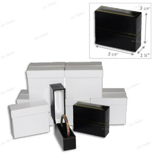 Lot Of 24 Standing Bangle Bracelet Boxes Jewelry Boxes Black Gift Boxes