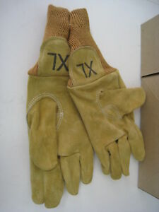 3 Xl Wildland Firefighter Gloves Nubuck Leather Firefighting Protection Rescue