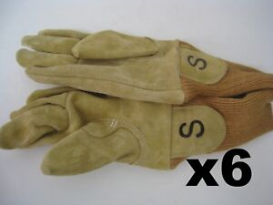 6 Small Wildland Firefighter Gloves Nubuck Leather Firefighting Protection