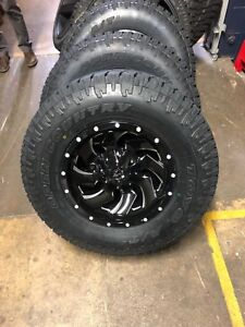 4 17 D574 Fuel Cleaver Wheels 33 Toyo At Tires Package 8x6 5 Chevy Gmc 8 Lug