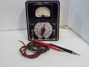Vintage Devry De Vry Technical Institute Multitester Bakelite Ohm Volt Meter F6