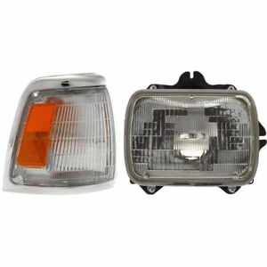 Headlight Kit For 1992 1995 Toyota Pickup Right 2pc 2wd