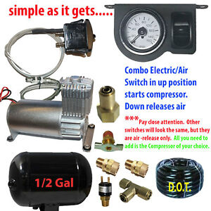 Tow Assist Control In Cab Air Height Control Electric Switch gauge Paddle Dc100