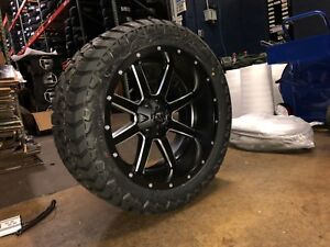 22x10 Fuel Maverick D538 Wheel Tire Package Amp 33 Mt 8x165 1 Dodge Ram 8 Lug