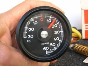 Motometer Thermometer Gauge Moto Meter Thermo Vintage Car Rally Porsche 911 Nos