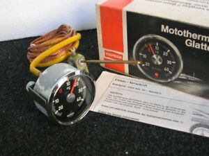 Motometer Outside Thermometer Gauge Moto Meter Vintage Car Rally Porsche 911 Nos