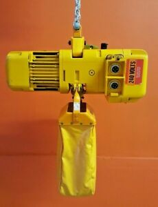 Harrington Er005s 1 2 Ton Single Chain 1 2 Hp Motor Electric Chain Hoist