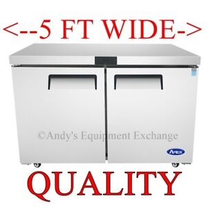 Atosa 60 5 Foot Wide Under Counter Refrigerator Free Lift Gate Delivery Nsf
