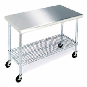 Member s Mark 49 Work Table With Stainless Steel Top