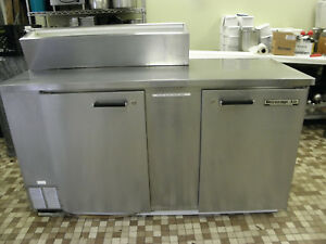 Beverage Air Ms68 Two Door Ice Cream Topping Syrup Rail Refrigerated Storage