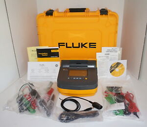 Fluke 1550c Kit Insulation Resistance Tester Kit 5 Kv New W Hard Case New