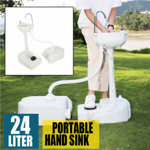 Outdoor Portable Removable Handwash Sink Basin Faucet Station With Recovery Tank