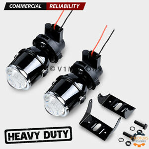 2 Metal Universal Fog Lights Projector Real Glass Lens H3 3000k Yellow 55w Pair