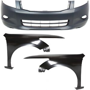 Bumper Cover Kit For 2008 2010 Honda Accord Front
