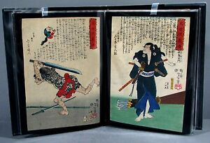 Portfolio Of 20 Original Yoshitoshi Japanese Woodblock Prints Modern Heroes