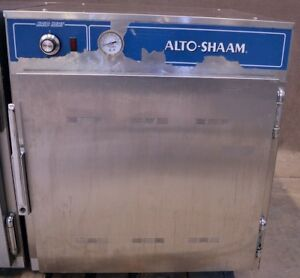 Alto Shaam 750 s Pan Halo Heat Heated Holding Cabinet Mobile Heating Half size