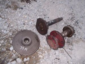 1939 Farmall M Tractor Ih Belt Pulley Assembly Parts Drive Gear Gears