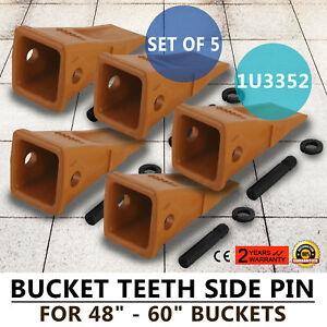 5 Pack 1u3352 Bucket Digging Teeth J350 With Pins retainers Caterpillar Style