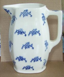 Antique Porcelain Or Ceramic Pitcher Flow Blue