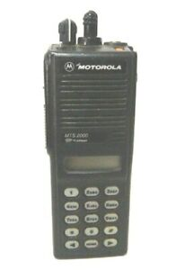 Motorola Mts2000 Model Iii Two Way Radio H01uch6pw1bn 800mhz With Battery
