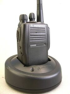 Mint Motorola Ex500 Vhf 16ch Radio W accessories