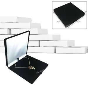 Lot Of 12 Classic Necklace Gift Box Velour Box Jewelry Box Black Necklace Box