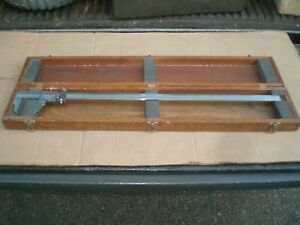 Brown And Sharpe 26 Vernier Caliper No 571 With Wood Storage Case
