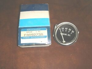 Oem Ford Tractor Oil Pressure Gauge Naa Jubilee 600 700 800 900 Fad9273a 80 Psi