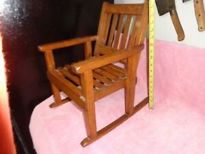 Vnice Vintage Solid Oak Wood Child S Or Doll Mission Style 17 Rocking Chair