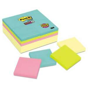 Post it Notes Super Sticky Note Pads Office Pack 3 X 3 Canary 051125006811
